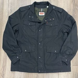 Levis Men's Stand-Up Collar Military Field Jacket